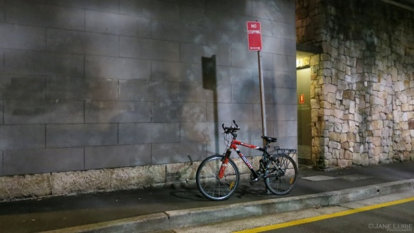 Bicycle and Night Shadows, Darlinghurst